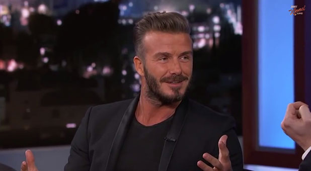 David Beckham on Jimmy Kimmel Live, 28 January 2015