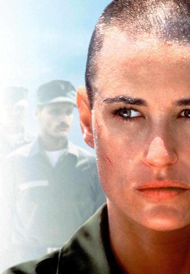 Demi Moore (as Lt. Jordan O'Neil) G.I. Jane (1997) Directed by Ridley Scott USA - 1997