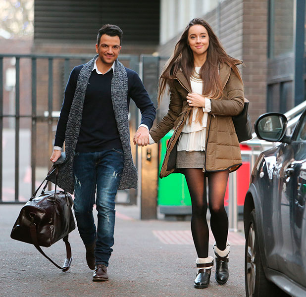 Peter Andre and fiancee Emily MacDonagh outside ITV Studios, 27 January 2015