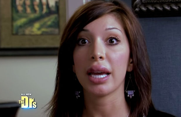 Teen Mom's Farrah Abraham discusses lip implant allergic reaction on Doctors, January 2015