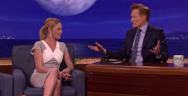 Katherine Heigl appears on Conan, 29 January 2015
