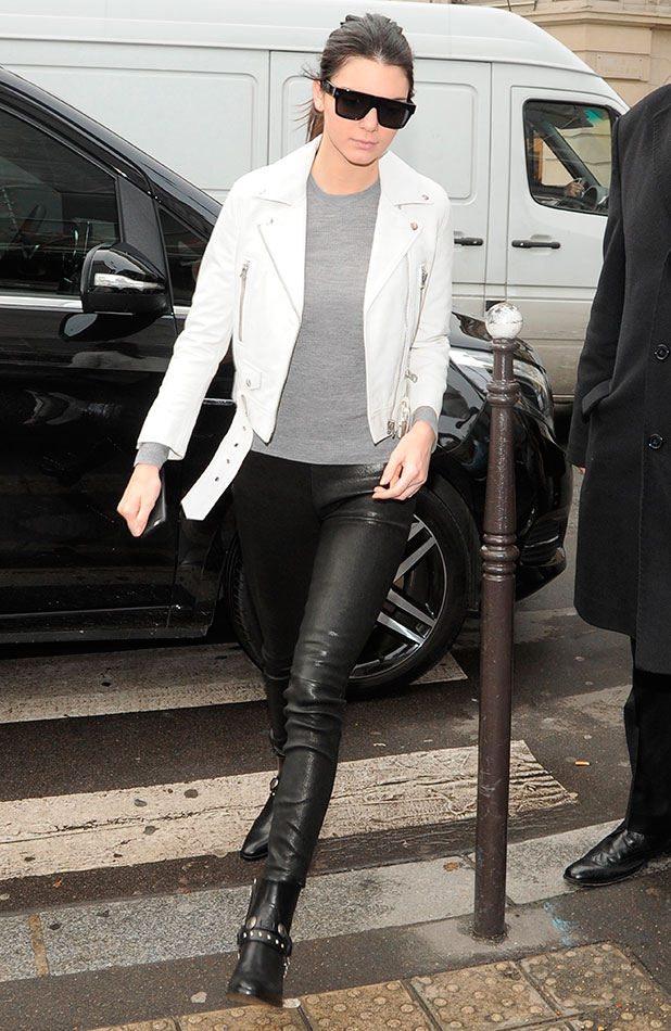 Kris Jenner visits Yves Saint Laurent and Givenchy before meeting daughter Kendall for lunch at a restaurant in Paris, 26 January 2015
