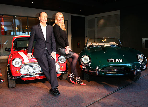 Jodie Kidd and Quentin Wilson launch the Channel 5 TV series 'The Classic Car' at Soho Hotel, 30 January 2015