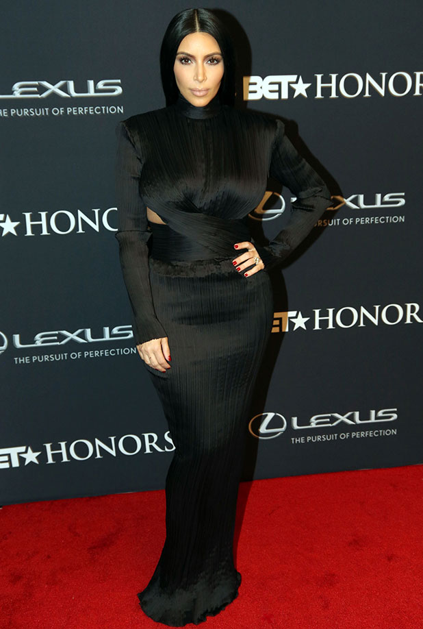 Kim Kardashian attends The 2015 BET Honors Awards at Warner Theatre on January 24, 2015, in Washington, DC.