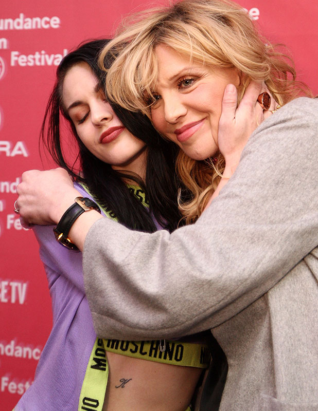 Frances Bean Cobain (L) and musician Courtney Love attend the HBO documentary films Kurt Cobain: Montage of Heck Sundance premiere on January 24, 2015 in Park City, Utah.