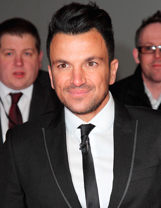 Peter Andre, National Television Awards 2015 at the O2, 21 January 2015