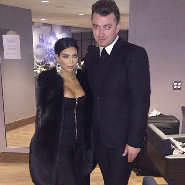 Kim Kardashian and Sam Smith at his concert in LA, 29 January 2015