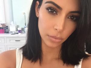 Kim Kardashian showcases shorter locks, 7 February 2015