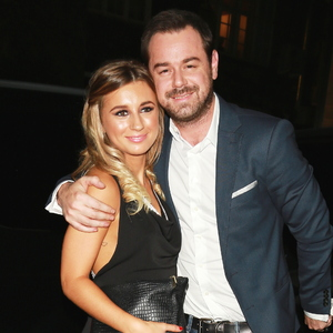 Dani Dyer with dad Danny at Ham Yard Hotel, London September 2014