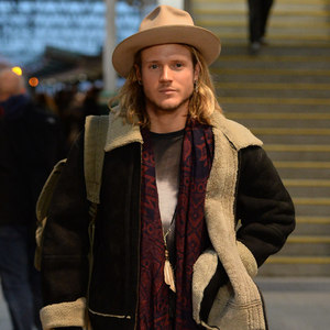 Dougie Poynter, McBusted' arrive at Manchester Piccadilly train station 4 December 2014