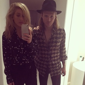 Ellie Goulding and Dougie Poynter 4 January