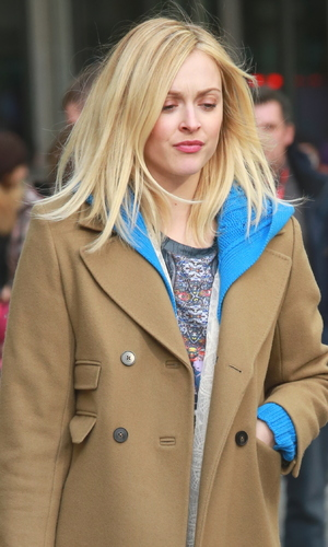 Fearne Cotton out and about in London, showing off freshly coloured new blonder hair, 3 February 2015