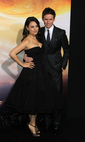 Mila Kunis and Eddie Redmayne at Los Angeles premiere of 'Jupiter Ascending' at TCL Chinese Theatre, LA 2 February