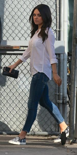 Mila Kunis outside ABC Studios, LA 3 February