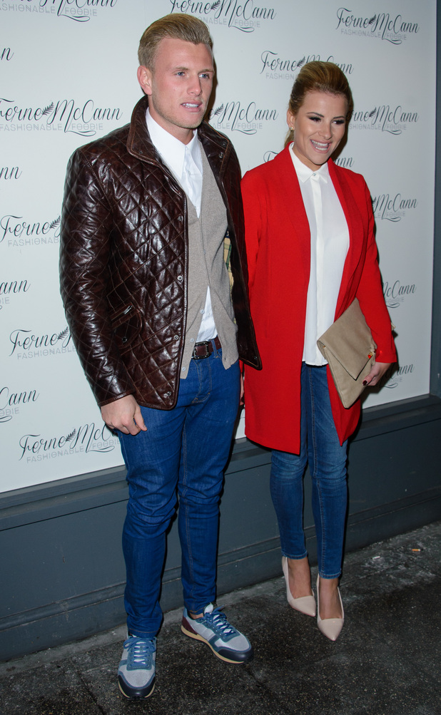TOWIE's Tommy Mallet and Georgia Kousoulou at Ferne McCann's 'Fashionable Foodie' blog launch at Charlies Deli in Brentwood - 5 February 2015.