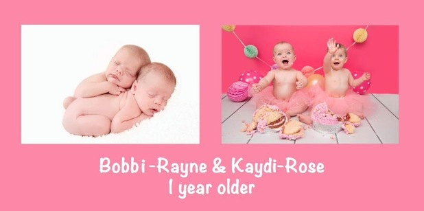 Scott Robinson shares then and now pictures of baby daughters - 5 February 2015