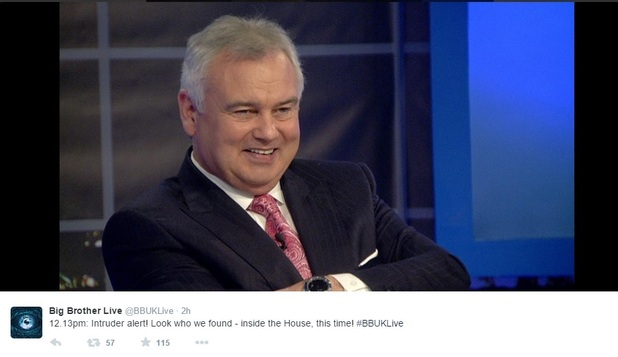 Eamonn Holmes enters Celebrity Big Brother house for task, Channel 5 4 February