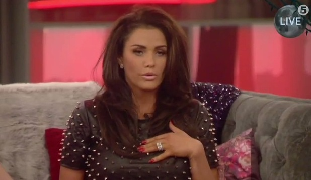 Katie Price looks nervous as she awaits eviction results - 4 February.