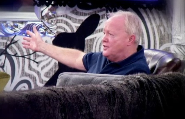 Celebrity Big Brother's Keith Chegwin argues with Katie Hopkins - 3 February 2015.