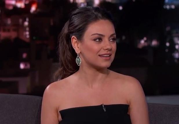 Mila Kunis appears on Jimmy Kimmel Live, LA 3 February