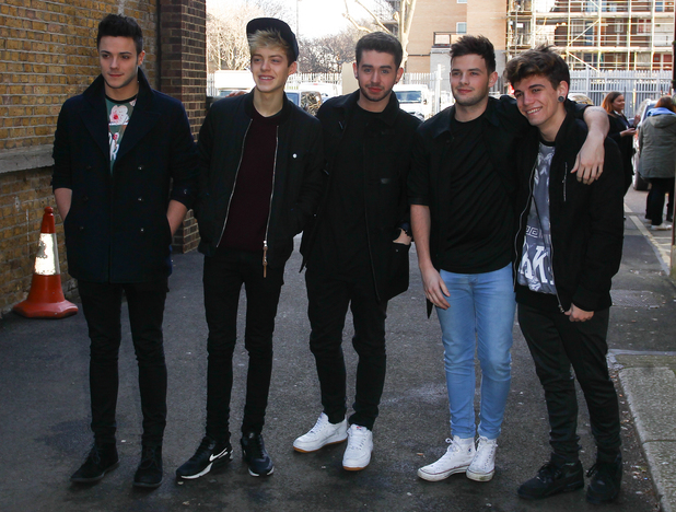Stereo Kicks outside of tour rehearsals for the X Factor Live Tour 4 February