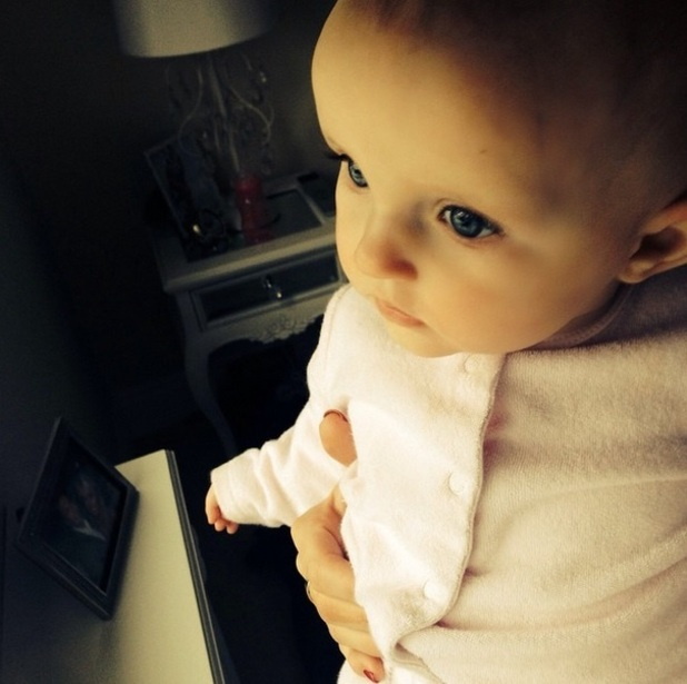 Billie Faiers shares cute picture of Nelly looking at the snow 3 February