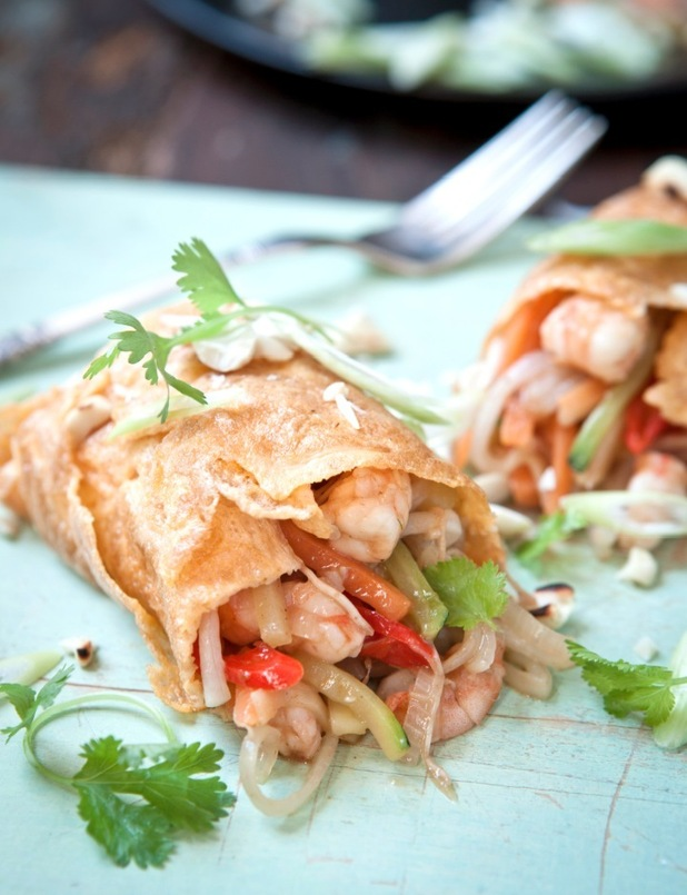 hairy dieters' pad thai omelette from Good Eating cookbook