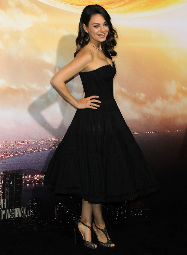 Mila Kunis at Los Angeles premiere of 'Jupiter Ascending' at TCL Chinese Theatre, LA 2 February