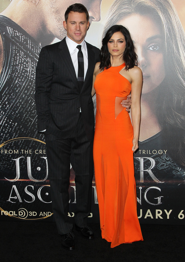 Channing Tatum and Jenna Dewan-Tatum attend the premiere of Jupiter Ascending in Los Angeles, America - 2 February 2015