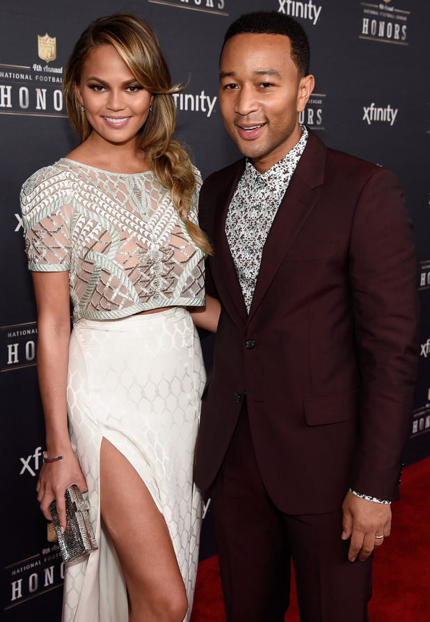 Chrissy Teigen and John Legend attend the 2015 NFL Honours in Phoenix, Arizona - 31 January 2015