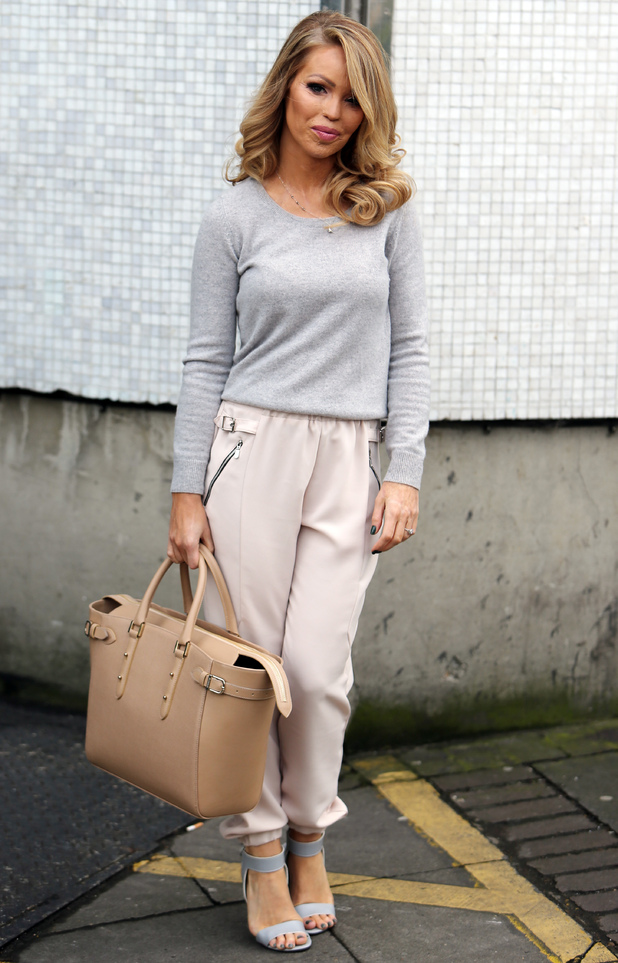 Katie Piper exits the ITV studios in London after appearing on Loose Women - 3 February 2015