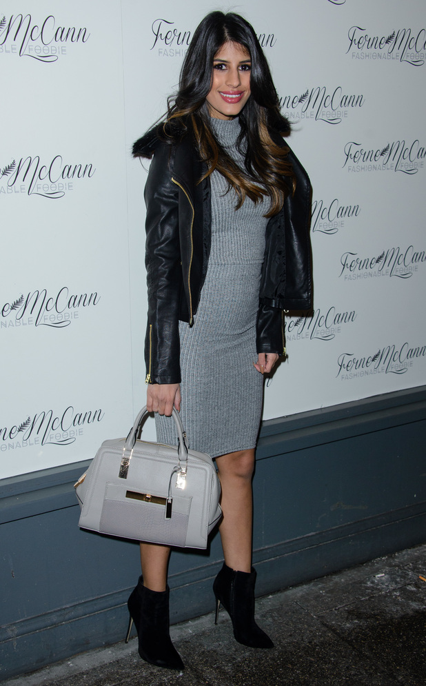 Jasmin Walia attends the launch of Ferne McCann's blog at Charlie's Delicatessen in Essex - 5 February 2015