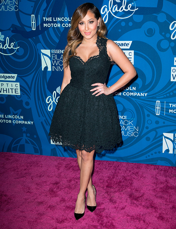 Adrienne Bailon attends 6th Annual ESSENCE Black Women in Music event at Avalon Hollywood, 5 February 2015