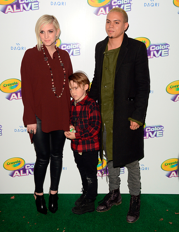 Ashlee Simpson, Evan Ross and Bronx Wentz, Crayola 'Color Alive' launch event hosted by Ashlee Simpson Ross, 5 February 2015