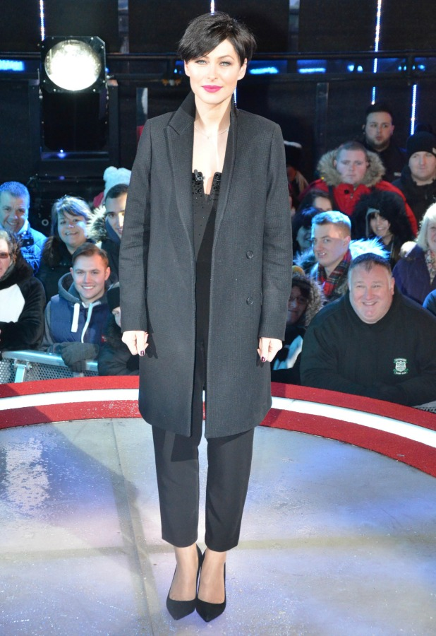 Emma Willis on Celebrity Big Brother live eviction night, 4 February 2015
