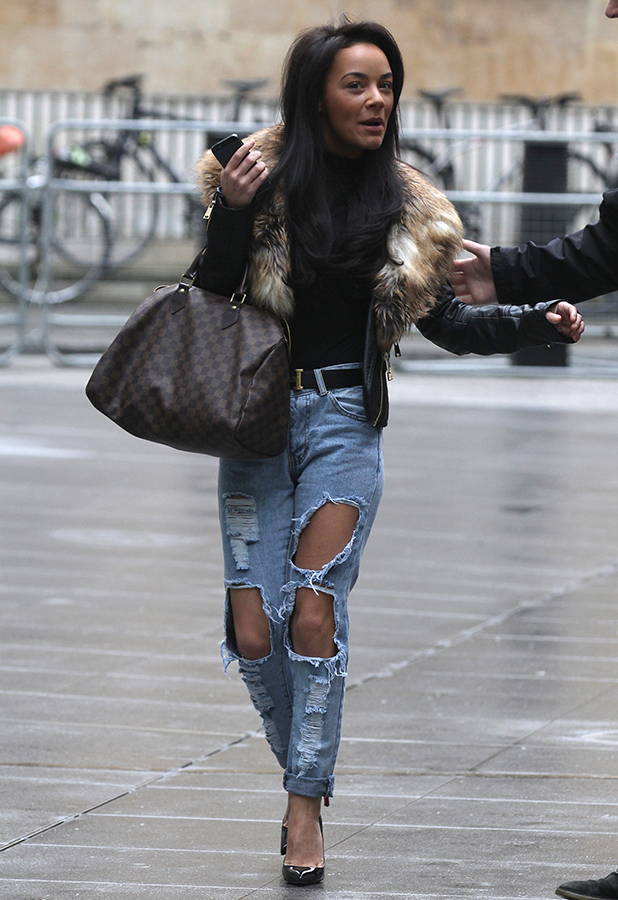 Chelsee Healey sighted at BBC Radio studios on February 5, 2015 in London, England.