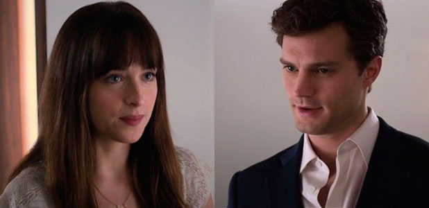 Fifty Shades of Grey Super Bowl trailer: Ana Steele and Christian Grey (Dakota Johnson and Jamie Dornan)