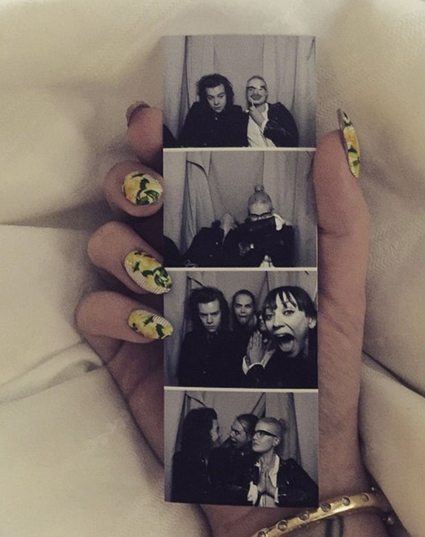 Kelly Osbourne shares photo booth pictures from Harry Styles birthday, 1 February 2015
