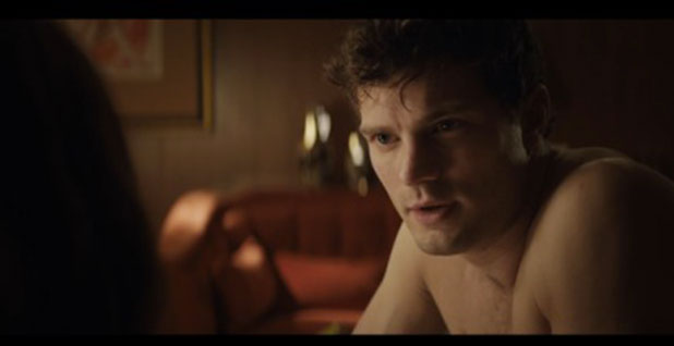 Fifty Shades of Grey: film still from scene where Ana wakes up in Christian's bed, 4 February 2015