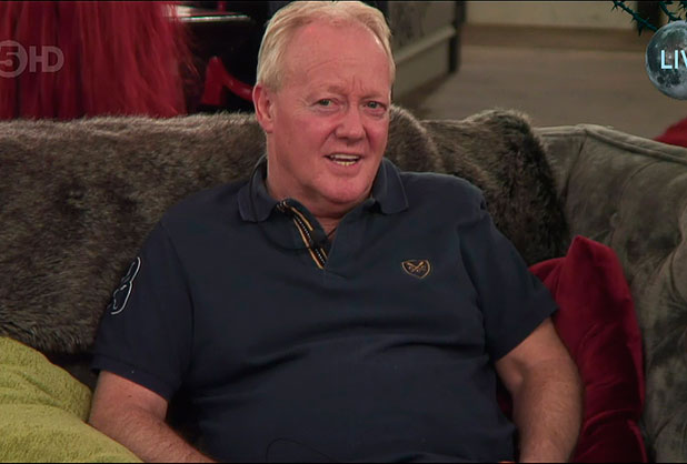 Keith Chegwin. Emma Willis enters the big brother house to annouce who will be the fifth celebrity to be voted out on 'Celebrity Big Brother' Shown on Channel 5 HD, 2 February 2015