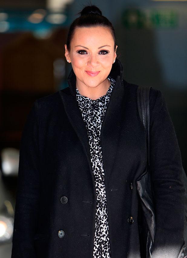 Martine McCutcheon outside the ITV studios, 2014