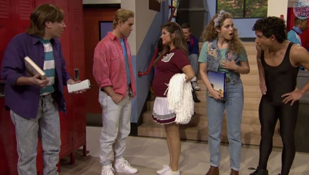 Saved By The Bell cast reunite for Tonight Show with Jimmy Fallon, 4 February 2015