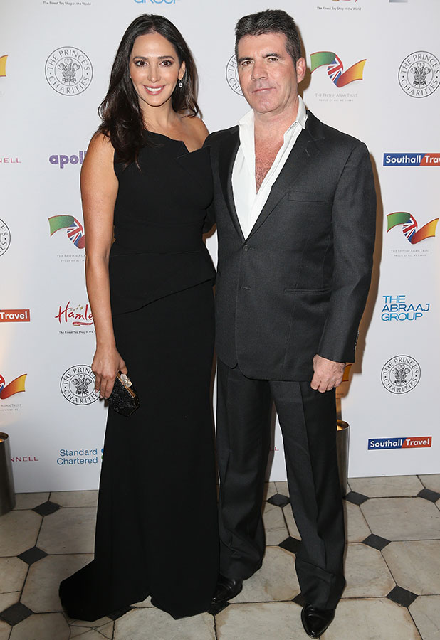 Lauren Silverman and Simon Cowell attend the British Asian Trust dinner at Banqueting House on February 3, 2015 in London, England. (Photo by Chris Jackson/Getty Images)