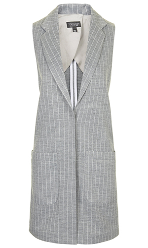 Topshop sleeveless coat