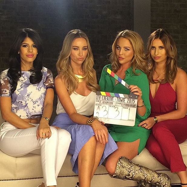 TOWIE cast film series 14 advert on 3 February: Jasmin Walia, Lauren Pope, Lydia Bright, Ferne McCann