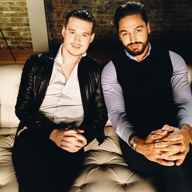 TOWIE cast film series 14 advert on 3 February: Mario Falcone and Charlie Sims