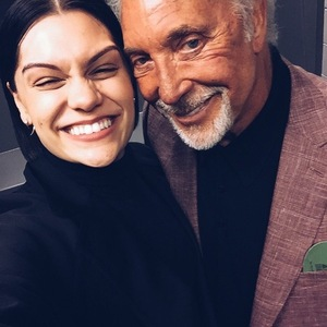 Jessie J and Tom Jones pre-Grammy performance 8 February