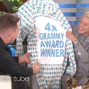 Sam Smith talks about his Grammy win on The Ellen DeGeneres Show - 10 February 2015.