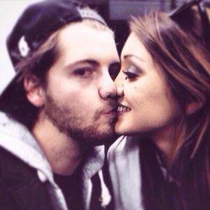 MIC's Stevie Johnson kisses girlfriend Cressida - 9 February 2015.