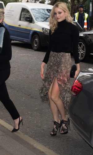 Pixie Lott on her way to The Year Of Mexico lunch, 10/2/15
